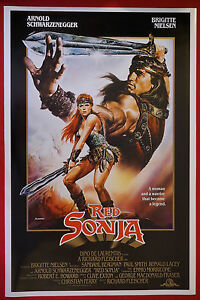 Red Sonja Arnold Schwarzenegger Brigitte Nielsen Movie Pic Poster 24x36 New Rson Ebay