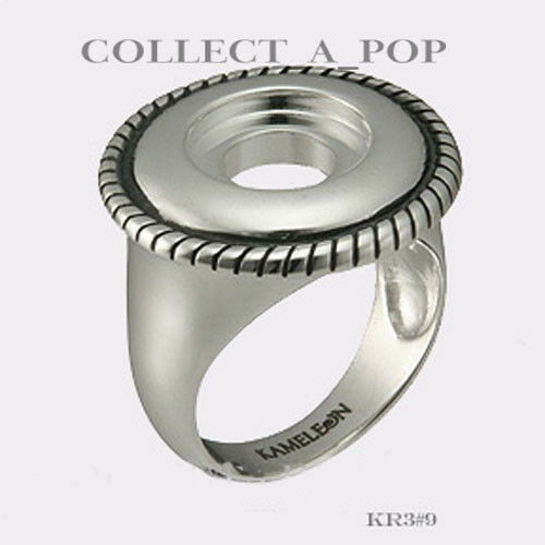 Authentic Kameleon Sterling Silver Rope Edge Ring Taille 5 KR003#5 RETIRED