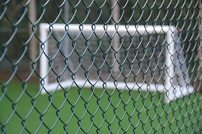 1.8m (6ft) 12.5m roll of UK Made Green PVC Chain link fencing - FREE line wire