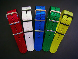 NATO G10 ® EDGE™ NEW RED watch band HD Nylon GREEN military RAF strap IW SUISSE