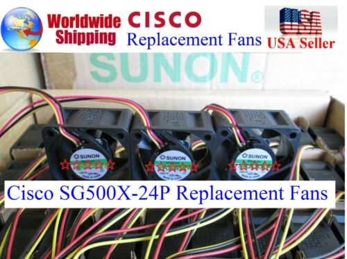 3Pack Quiet Sunon fans Cisco SG500X-24P//24MPP Managed Switch 13~18dBA Low noise