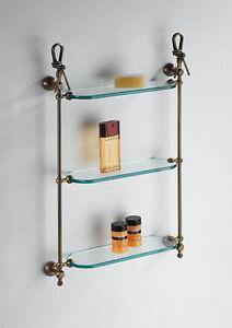 Accessori bagno pensile vetro 3 mensole wc prodotto italiano classico ottone ebay - Accessori bagno in ottone ...