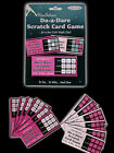 12 Pink Black Hen Party Bride to Be Night Scratch Do a Dare Cards Game