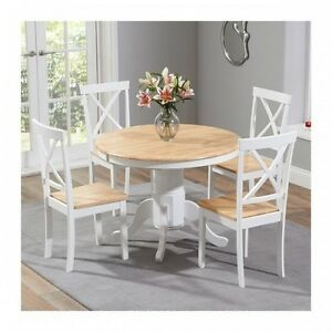 Image Is Loading Wood Dining Table And Chairs 5 Piece Dining