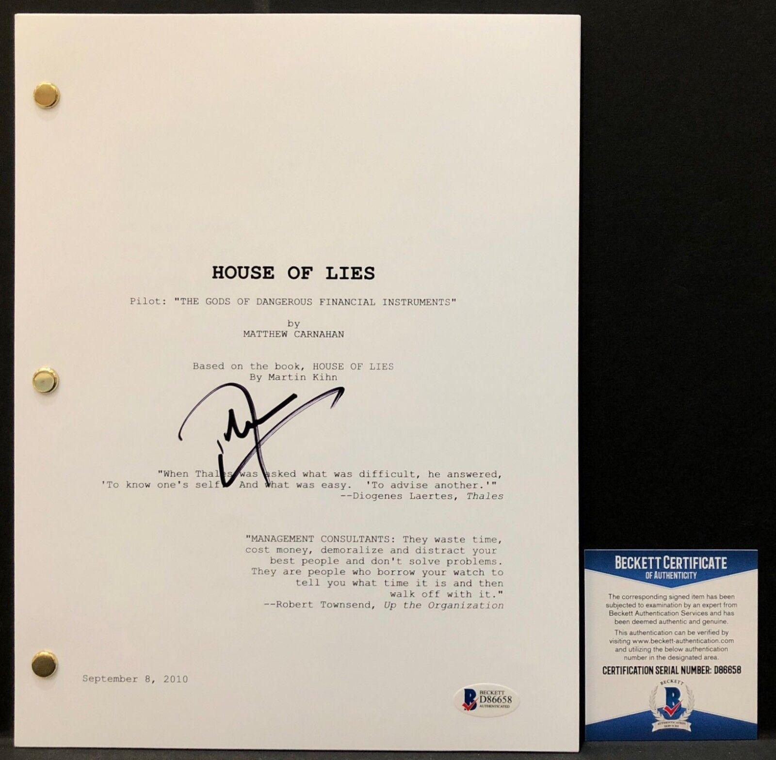 Don Cheadle Signed \