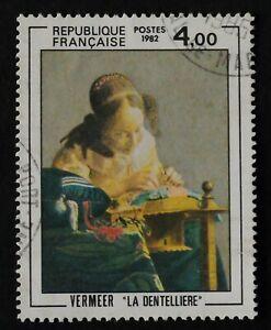 TIMBRE poste. France. N°2231. Peinture. Vermeer. La dentelière.