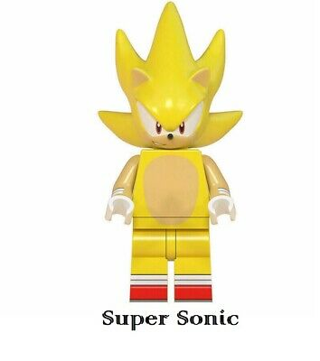Sonic the Hedgehog Lego Moc Minifigure Gift For Kids Super Sonic