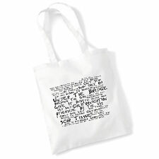 Art Studio Tote Bag RED HOT CHILI PEPPERS Lyrics Print Album Poster Shopper Gift