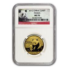 2012 China 1/2 oz Gold Panda MS-70 NGC - SKU #67315