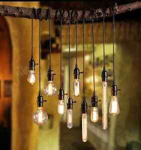 Retro Industrial Diy Black Ceiling Lamp Pendant Lighting