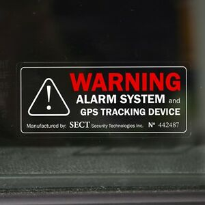 4 warning stickers car van security alarm device decal for tinted windows ebay. Black Bedroom Furniture Sets. Home Design Ideas