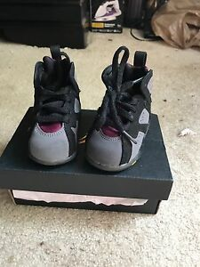 hot sale online c4fcd 4697d Details about Nike Air Jordan Retro VII (7) BORDEAUX Boys Toddler Shoes  Size 4c KIDS Black