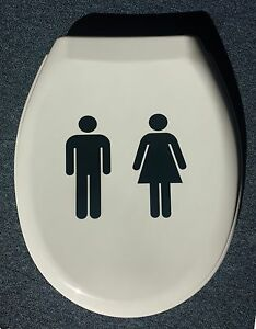 Image Is Loading Man Woman Design Novelty Thermoset Plastic Toilet Seat