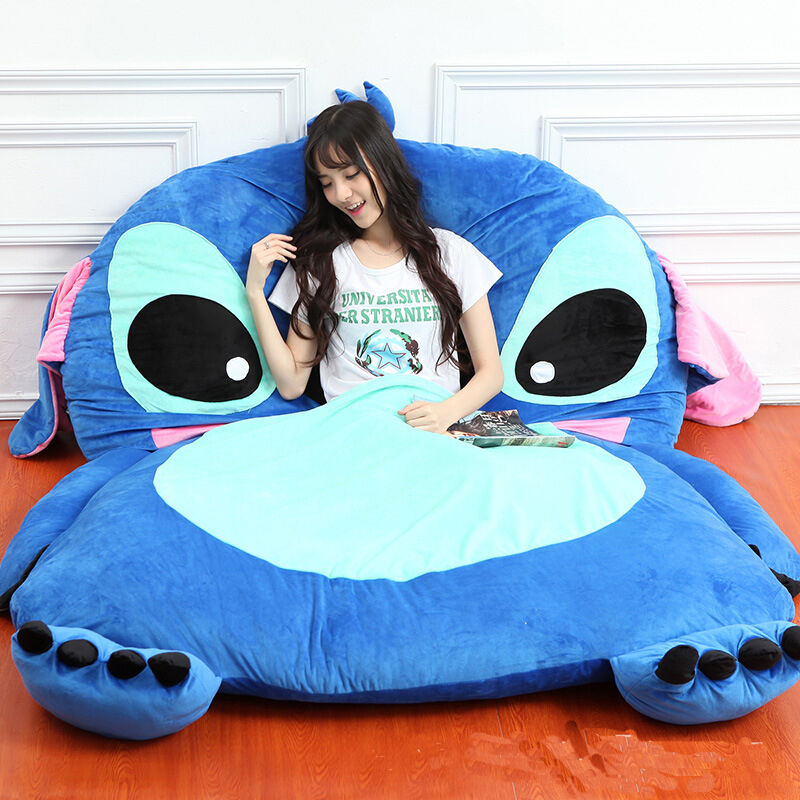 Big Lilo &Stitch Sleeping Bag Plush Beansbag Bed bilpet Tatami Sofa Mat Beam Gåvor