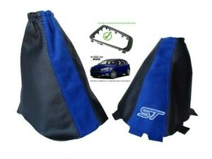 Polaina-de-engranaje-de-freno-de-mano-para-Ford-Focus-MK3-15-18-6-Velocidad-Cuero-Gamuza-ST-marco