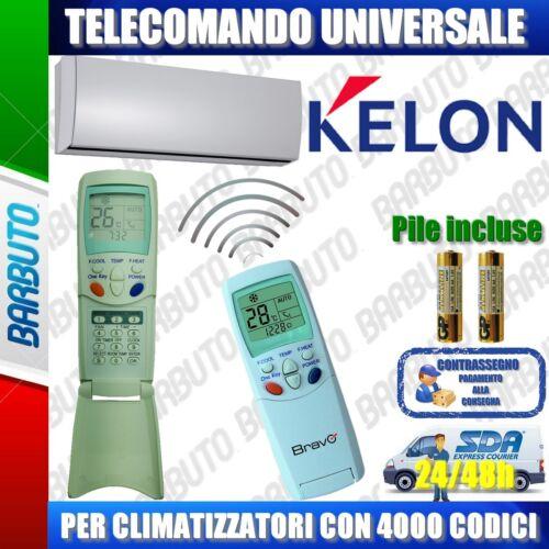 PILE INCLUSE TELECOMANDO UNIVERSALE PER CLIMATIZZATORI KELON