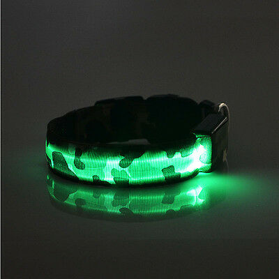 Pets Dog Puppy Practical LED Lights Leopard Waterproof Flash Night Safety Collar