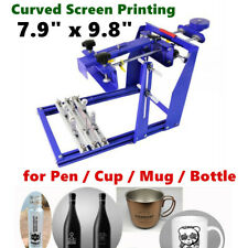 79 X 98 Manual Cylinder Curved Screen Printing Press For Pen Cup Mug