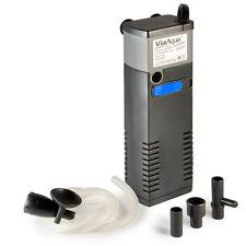 2 Pcs 80 GPH ViaAqua 80pf Internal Filter 3-in-1 Multi-function Submersible Pump
