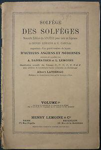 Danhauser / Lemoine - Solfege Des Solfeges - Volume 6b Pour Voix Soprano