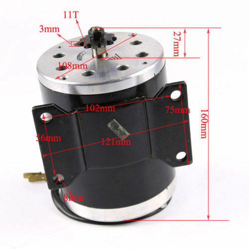 25 11Tooth  24V 500W Brushed Electric Motor MY1020 for Go Cart Scooter Razor