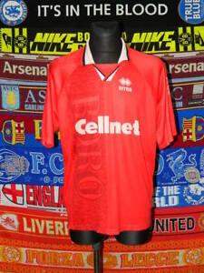 d451308bbe0 4 5 Middlesbrough adults XL 1996 football shirt trikot jersey soccer ...