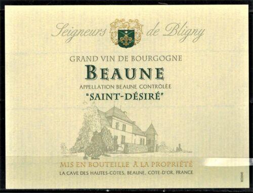 """Etiquette Vin de Bourgogne-Beaune /""""Saint-Désiré-Seigneurs de Bligny-Réf.173"""
