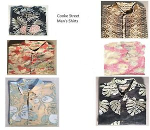 Cooke-Street-Hawaiian-Men-039-s-Shirt-Variety-of-Colors-and-Sizes