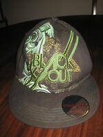 Mecca Usa Black Out Ball Cap In Black Green Gold Size M 60 Cm W/sticker