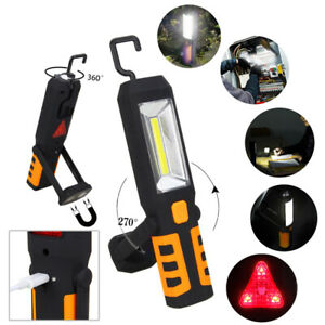 COB LED USB Rechargeable Magnetic Pen Clip Hand Torch Work Light Inspection Lamp