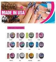 12 Pcs Adoro Color Acrylic Powder Princess Collection Like Mia Secret Glitter