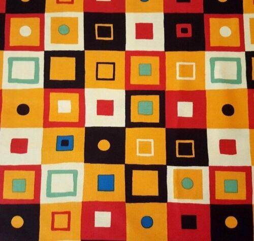 Esme BTY Junebee Ink /& Arrow Squares Red Orange Green Yellow Black