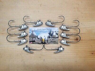 10 PACK SWIMBAIT HEAD 1//2oz WITH 5//0 MUSTAD 32746BN HOOKS WALLEYE JIG HEADS