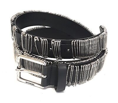 "Bello Diesel Pelle Cintura Designer ""betion"" Leather Belt 85cm 00sjy8 #05-mostra Il Titolo Originale"