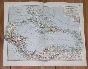 Map Of Florida Cuba And Puerto Rico.1899 Antique Map Of West Indies Caribbean Puerto Rico Florida Costa