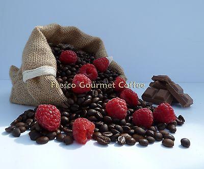 Chocolate Raspberry Flavoured Coffee Beans 100% Arabica Bean or Ground Coffee