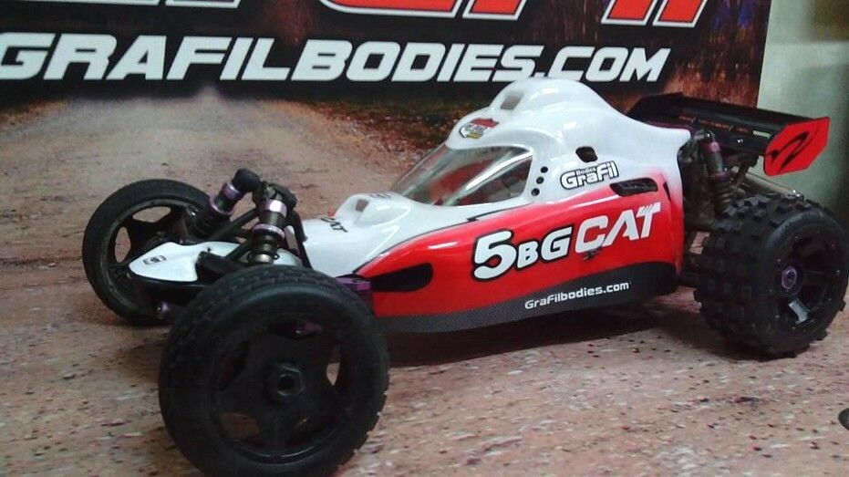 HPI Baja 5B body - model:  Baja 5B-G CAT  full coverosso GraFil body