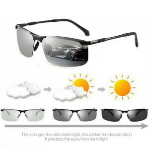 Photochromic-Sunglasses-UV400-Driving-Polarized-Transition-Lens-UVA-amp-UVB-Unisex