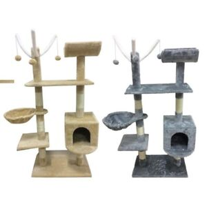 Cat-Tree-Scratching-Post-Activity-Centre-Bed-Toys-Scratcher-New-with-Cat-Nip
