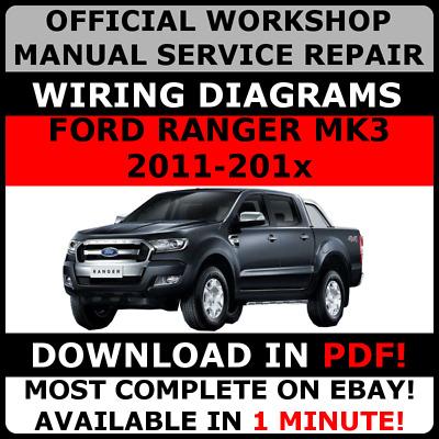 Official Workshop Repair Manual For Ford Ranger Mk3 2011 2017 Wiring Ebay
