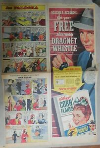 Kellogg's Cereal Ad: Jack Webb Dragnet Whistle ! From 1955 Size: 15 x 22 inches