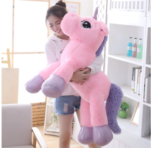 3373d288bf9 34inch Large Unicorn Plush Soft Doll Stuffed Animal Horse Toy Gift ...