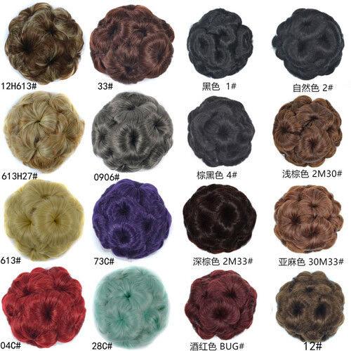 Femmes Filles Perruque Coiffure Donut chignon élastique Cheveux Anneau Corde Band hairband fashion