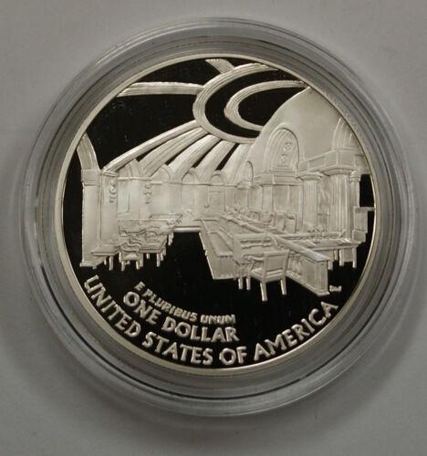 2005 Chief Justice John Marshall Commemorative Proof Silver Dollar Box /& COA