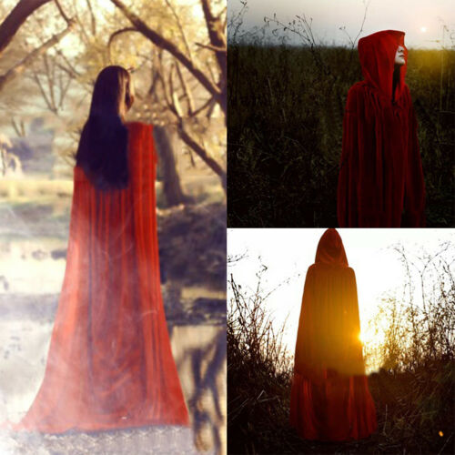 Halloween Adult Cloak Vampire Witch Prince Cosplay Clothes Cap Prank Props New