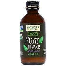 Frontier Natural Products Organic Alcohol Free Mint Flavor - 2 oz