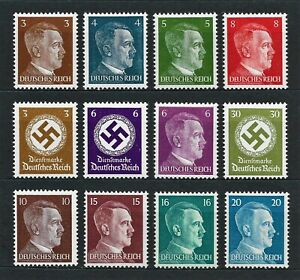 DR Nazi WWII Germany Rare WW2 MNH Stamps 1942 Hitler Head Service Swastika Stamp