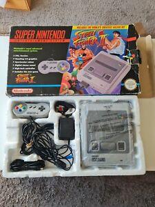 Snes Super Nintendo Console Boxed