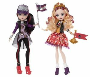DAMAGE-BOX-Ever-After-High-School-Spirit-Apple-White-and-Raven-Queen-Doll-2-Pack