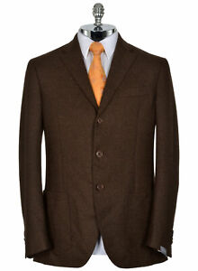 Cantarelli-Mens-Slim-Fit-Virgin-Wool-Sportcoat-42-Long-Brown-Made-In-Italy